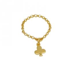 Anillo cadena Mini Pabery de Plata con baño de Oro