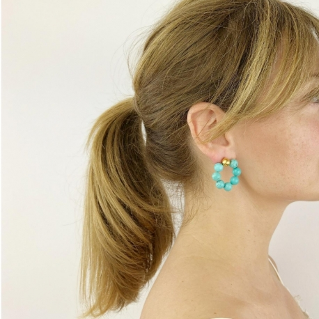 Pendientes Bubble color Turquesa