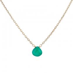 Colgante Drop Jade verde