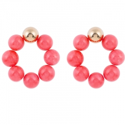 Pendientes Bubble color Coral