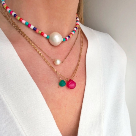 Collar Rainbow Barroc Pearl