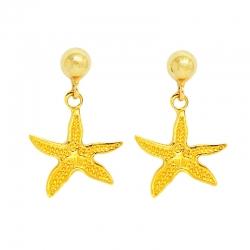 Pendientes estrella de mar.